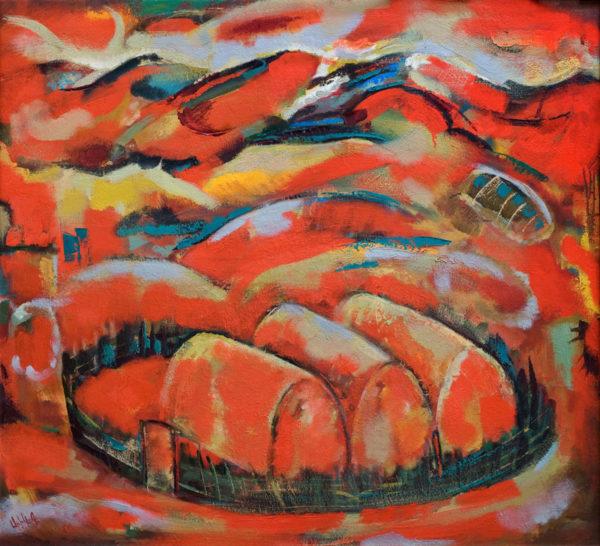 Haystacks, canvas, oil, 100х110, 2009