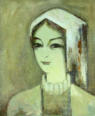 Female portrait, canvas, oil, 60×50, 2005