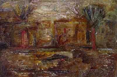 Complex landscape, canvas, oil, 20×30, 1999