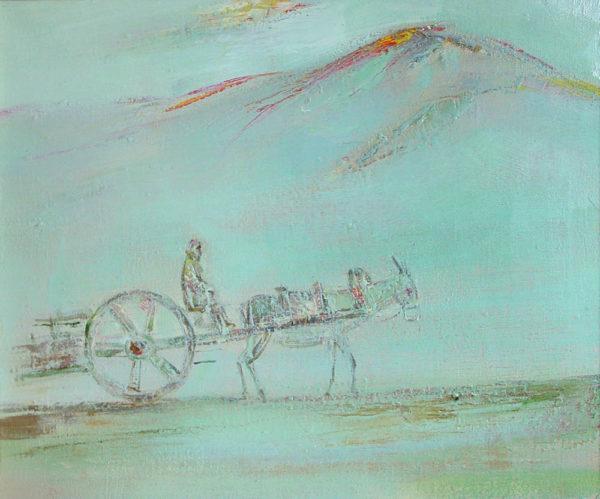 Arba of my childhood, oil on canvas, 50×60, 1996