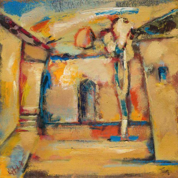Armenian motive, oil on canvas, 50×50, 2010