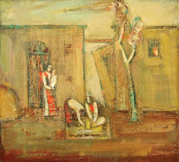 Будни моего села, х.м., 70х78, 1993
