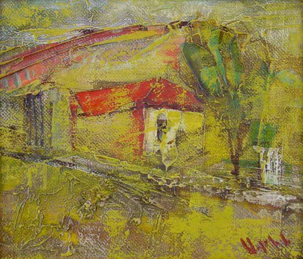 Весенний пейзаж, х.м., 17х20, 2000