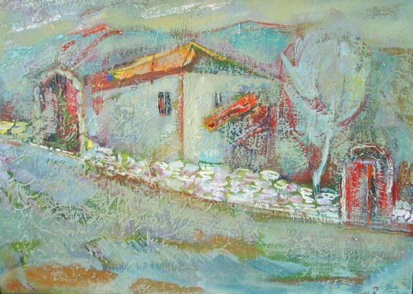 В старой деревне, х.м., 44х60, 1996