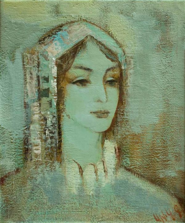 Голубой портрет, х.м. 60х50, 2006