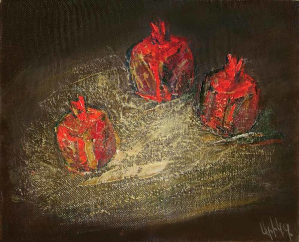 Pomegranates, oil on canvas, 40×50, 2006, private collection