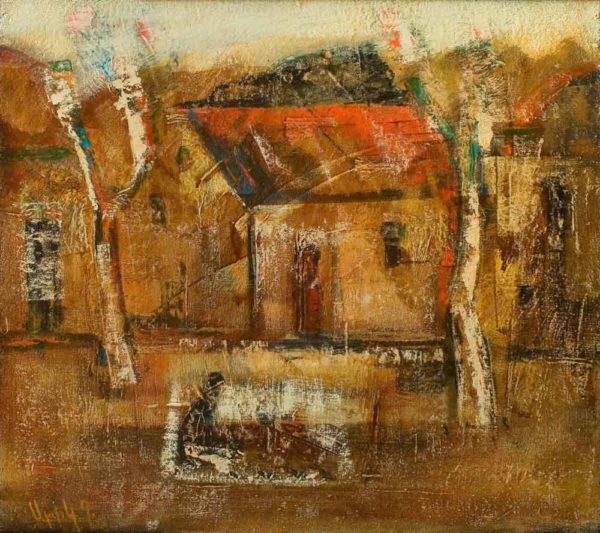 Yard, oil on canvas, 45×50, 2006