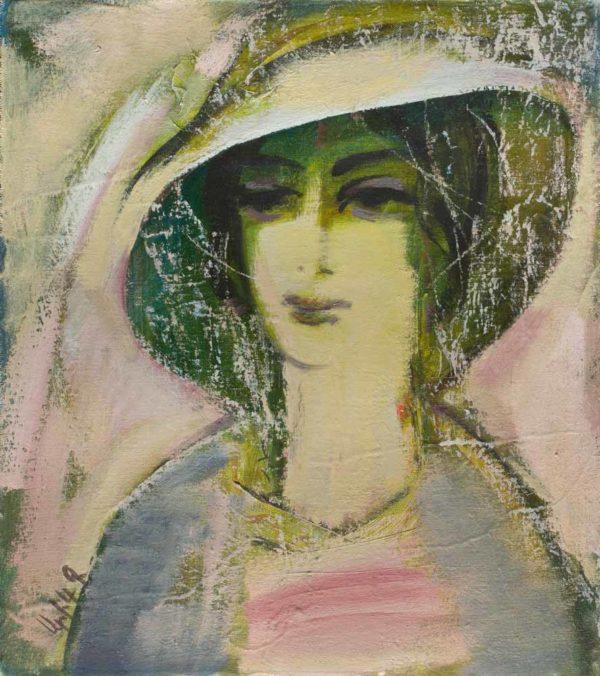 Женский портрет, х.м., 53х48, 2009