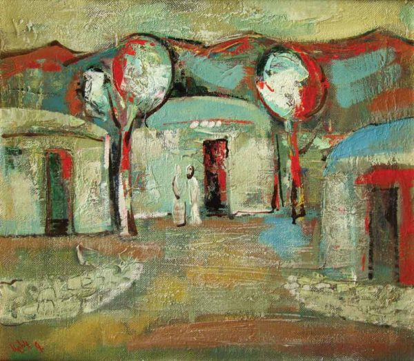 Заброшенное село, х.м., 47х54, 1995