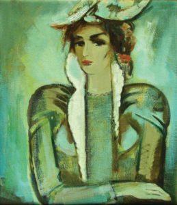 портрет хм 85х75 1995 259x300 - Зеленый портрет хм 85х75 1995