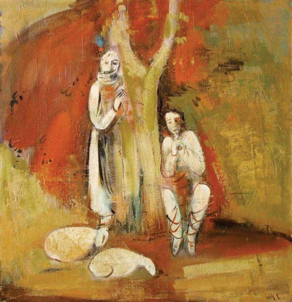 Карабахская мелодия, х.м., 105х102, 1993