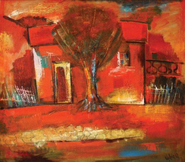 Красный пейзаж, х.м., 100х116, 2003