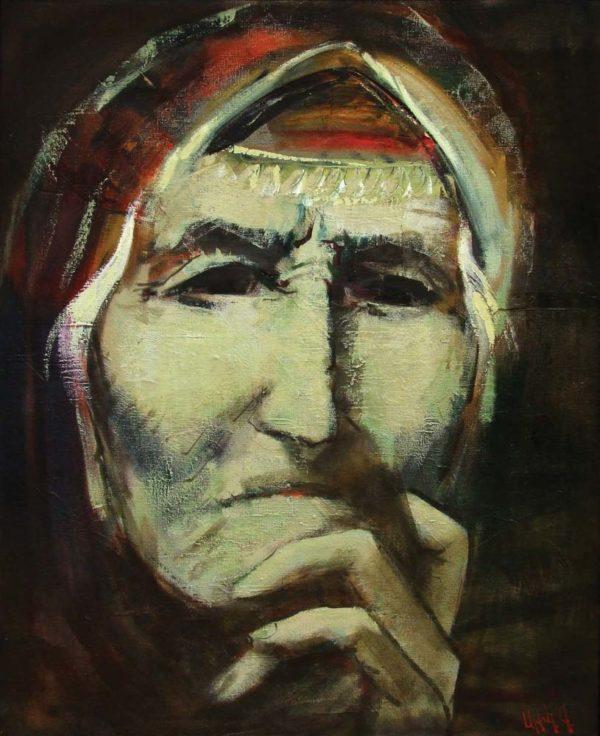 Мать, х.м., 100х80, 2006 (на портрете изображен собирательный образ матери)