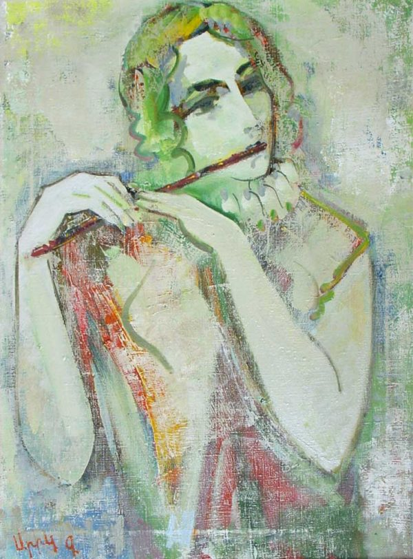 Melody, oil on canvas, 73×53, 1994