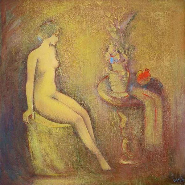 Model, oil on canvas, 116×116, 2000