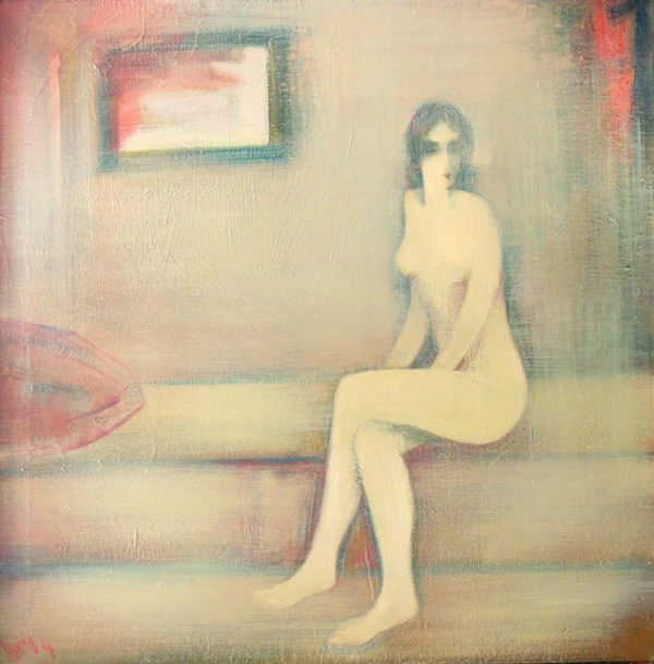 Model, oil on canvas, 80×80, 1998, private collection