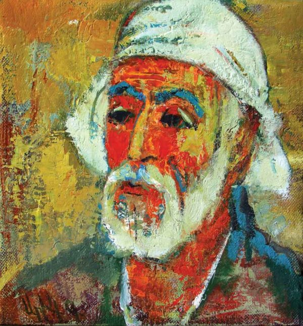 Male portrait, oil on canvas, 30×30, 1999