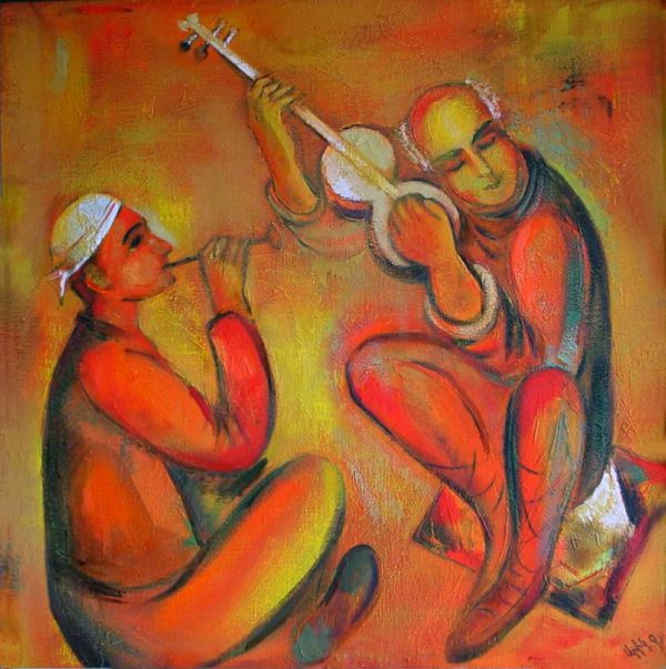 Music, oil on canvas, 105×105, 1994-2000