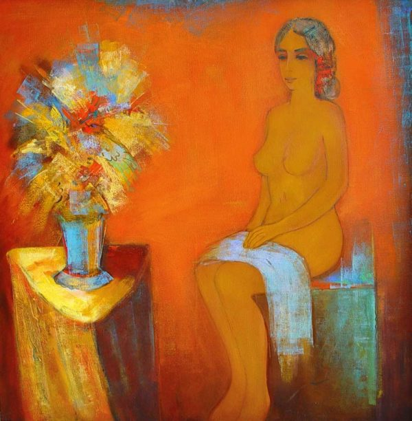 Nude, oil on canvas, 100×100, 2001, private collection