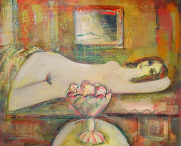 Nude, oil on canvas, 80×100, 1996, private collection