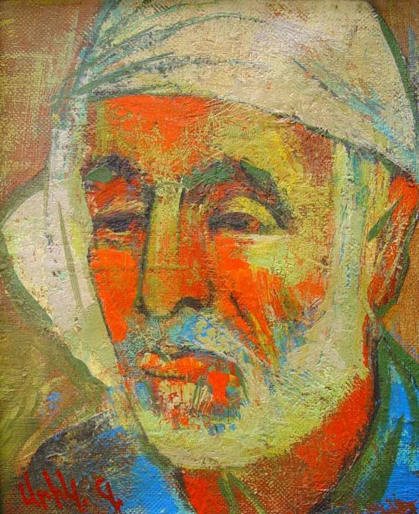 Martiros portrait, oil on canvas, 30×25 2001