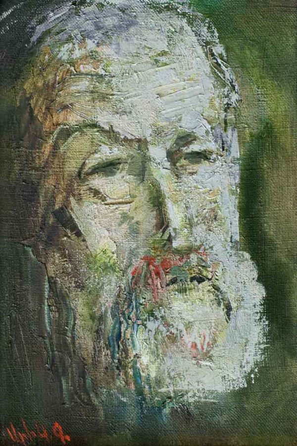 Portrait of Sergei, canvas, oil, 30х20, 2009