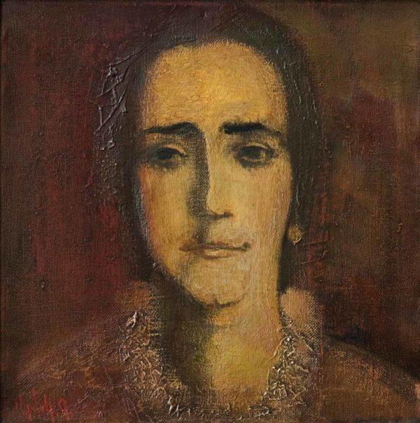 Портрет матери, х.м., 41х41, 1977