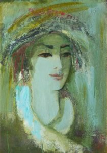 . Картон масло. 60х42. 1992 210x300 - Портрет. Картон, масло. 60х42. 1992