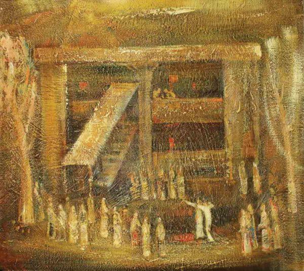 Праздник моего села, х.м., 90х80, 1989