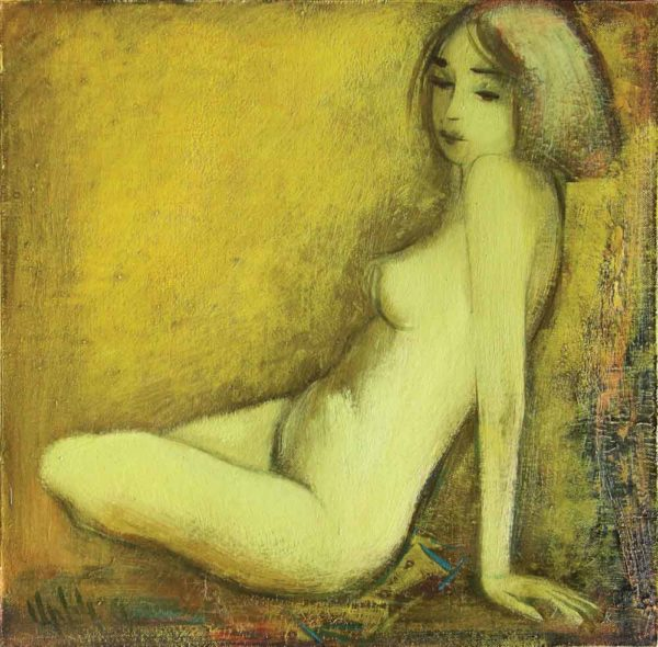 Seated model, oil on canvas, 44×43, 2003