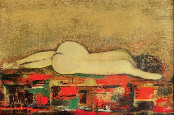 From the back, oil on canvas, 20×30, 2006, private collection