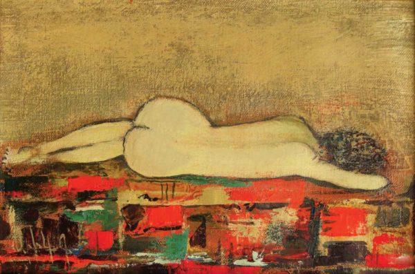 Со спины, х.м., 20х30, 2006, частная коллекция