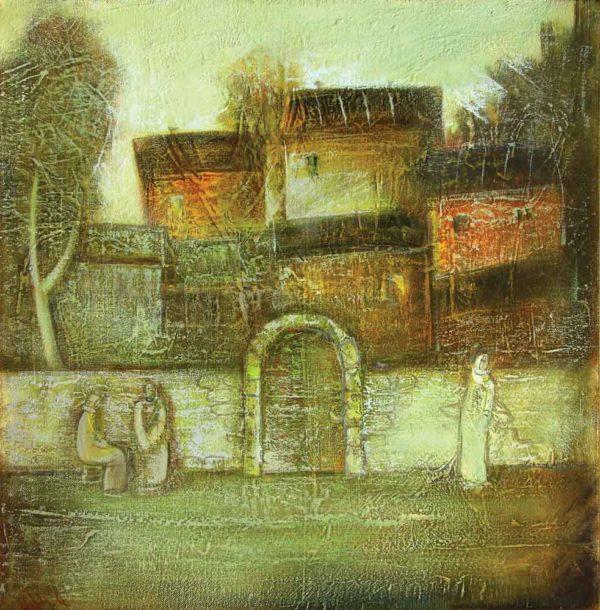 Старый мотив, х.м., 75х75, 1995