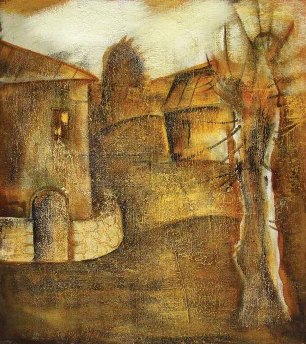 Тутовое дерево, х.м, 70х80, 2004
