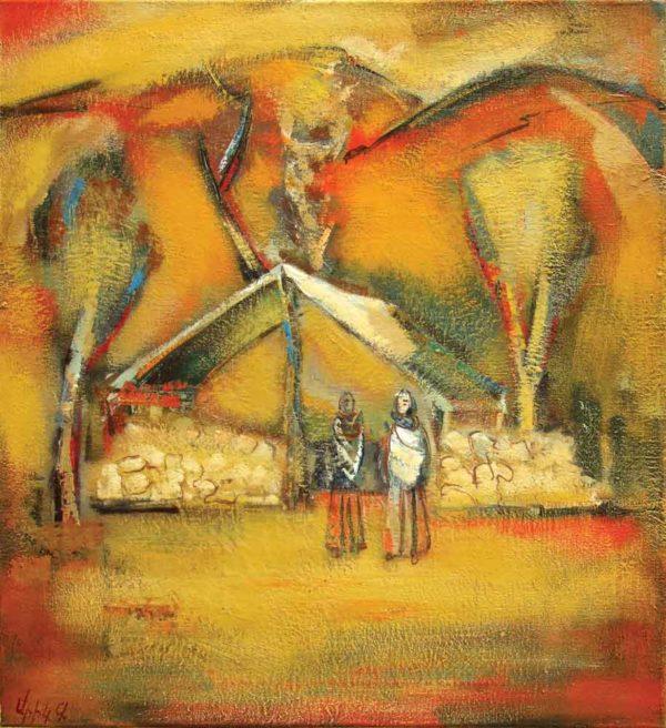 In Turunen, oil on canvas, 76×70, 2004