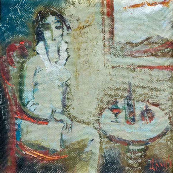 У окна, х.м., 30х30, 2009