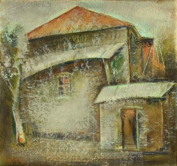 On the threshold, 1998-2001, canvas, oil, 47х50, private collection