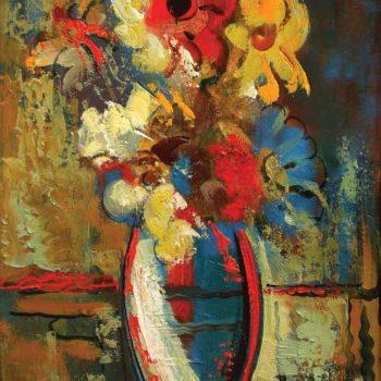 км 53х36 2002 350x350 - Flowers, oil on canvas, 53x36 2002