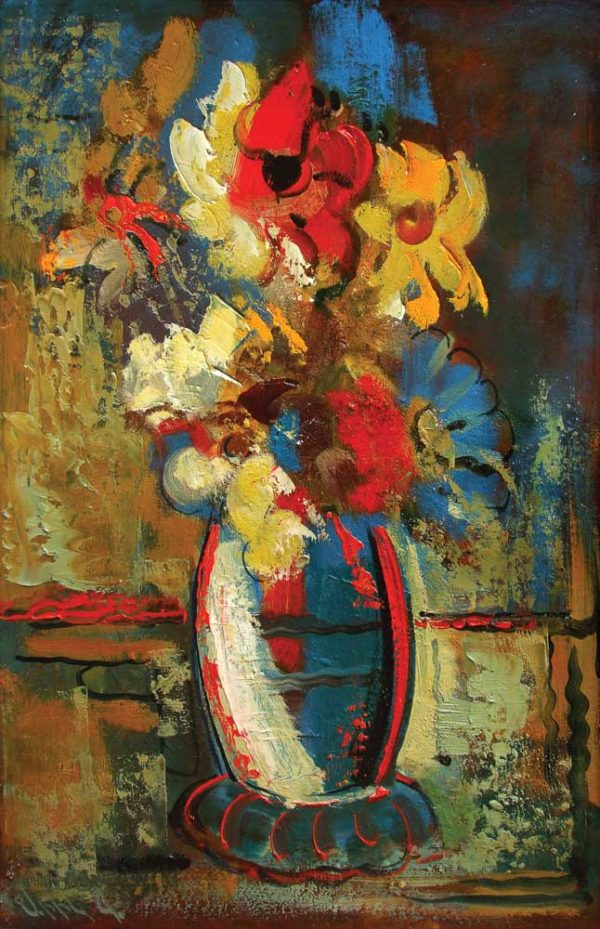 Flowers, oil on canvas, 53×36 2002