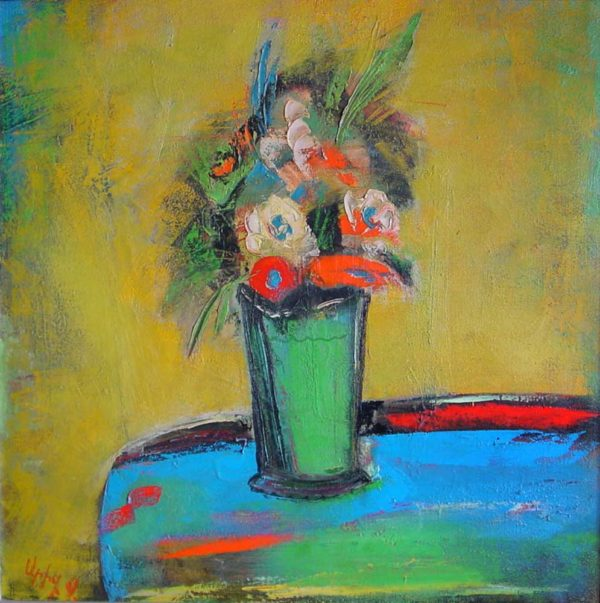 Flowers, oil on canvas, 70×70, 2001, private collection