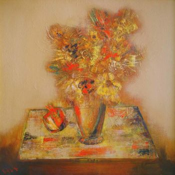 хм 80х80 00 350x350 - Flowers, oil on canvas, 80x80, 2000