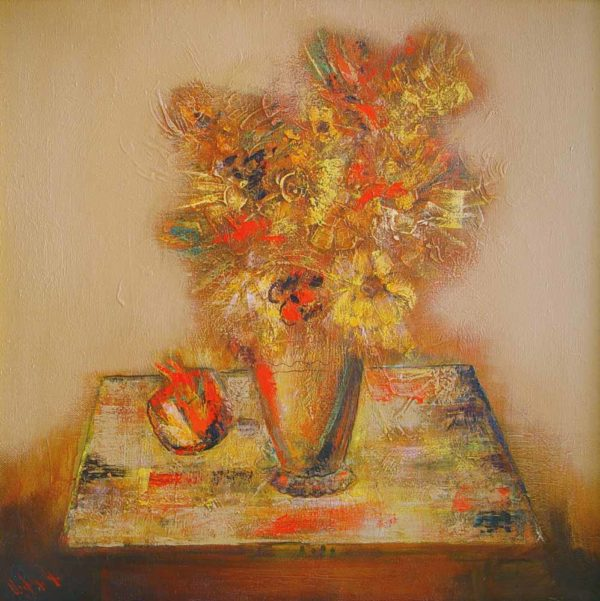 Flowers, oil on canvas, 80×80, 2000