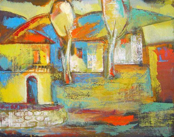 Tsovateh, oil on canvas, 60×80, 1997-99