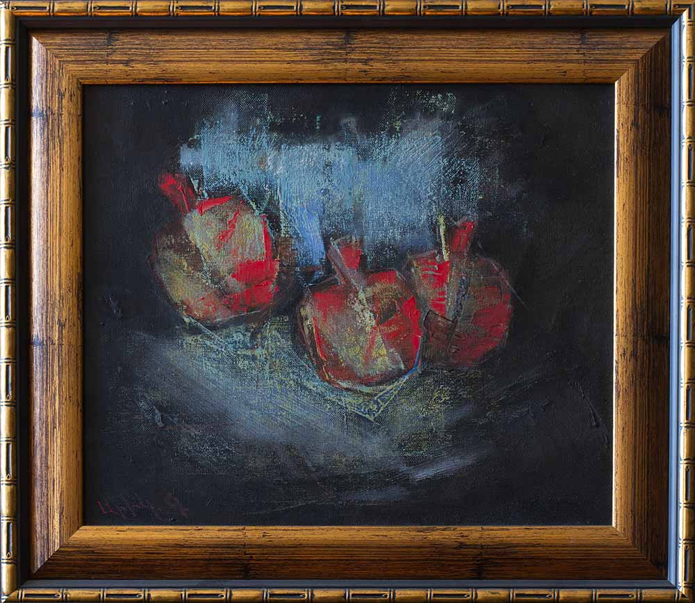 хм 35х40 2009 1 2 - Pomegranates, 35х40, oil on canvas, 2009