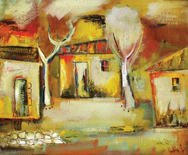 Country scene, 65х81, oil on canvas, 1996
