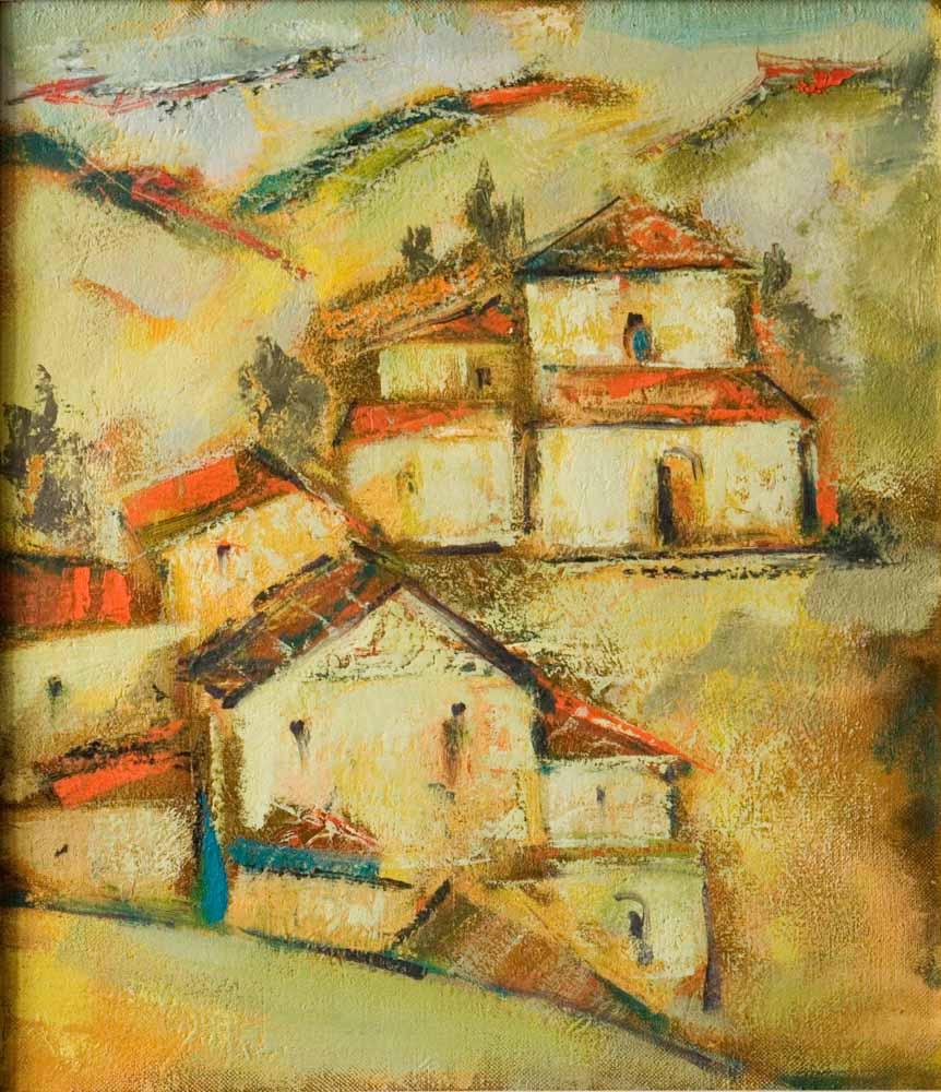 Гулухан 2002 2009 хм 63х54 - Деревня Гулухан, 63х54, х.м., 2002-2009