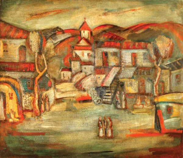 Houses of my childhood, 130х150, oil on canvas, 1985