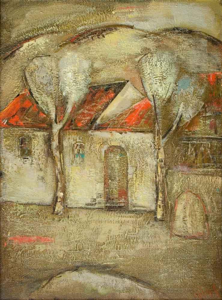моего детства хм 76х56 2001 - Дом моего детства, 76х56, х.м., 2001