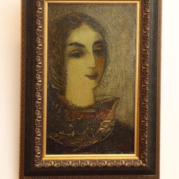 портрет 1982 хм 350x350 - Женский портрет, 50х30, х.м., 1982