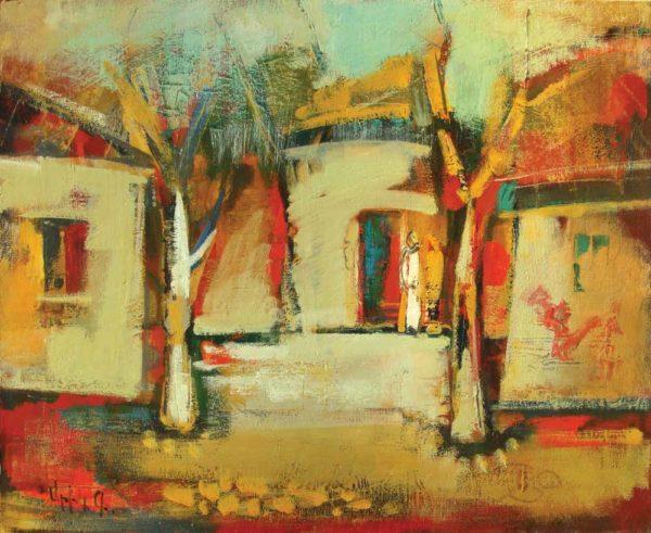 Karabakh village, 50х60, oil on canvas, 2004